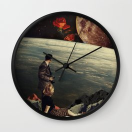 The Roses Came Wall Clock