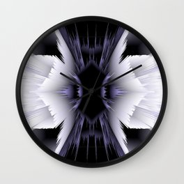black white 3d wings Wall Clock