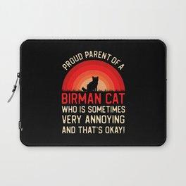 Funny Birman Cat Laptop Sleeve