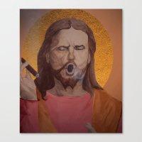 christ Canvas Prints featuring Jesus Christ by Ethan Hellexon