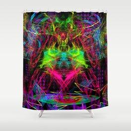 Zap Girl Shower Curtain
