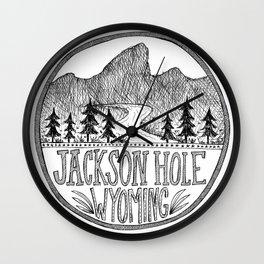 Jackson Hole Wyoming Wall Clock