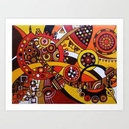 Clockworks 1 Art Print