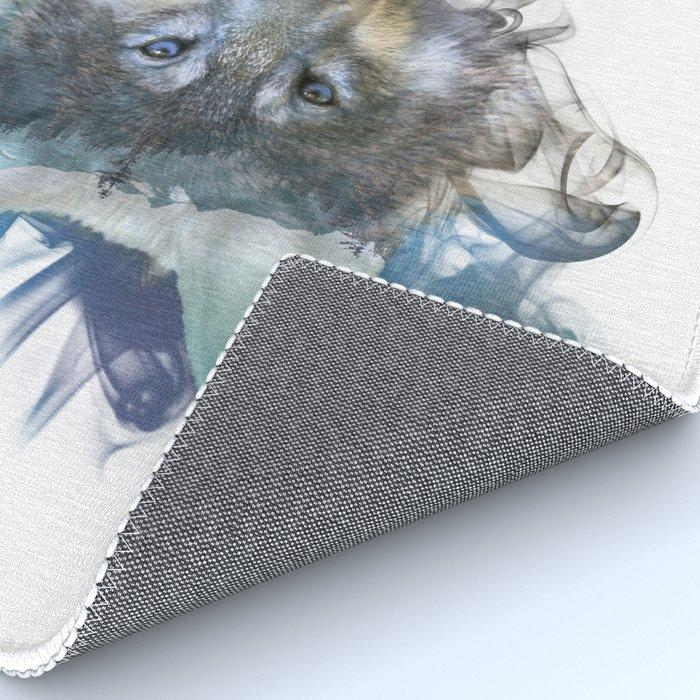 Wolf - Spirit Animal Rug by twopoint0