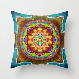 Intuition Sri Yantra II Throw Pillow