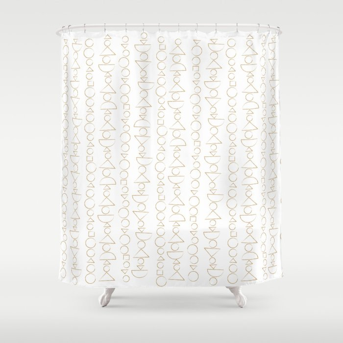 Beaded Curtain Pattern In Gold Shower By Lisaviado