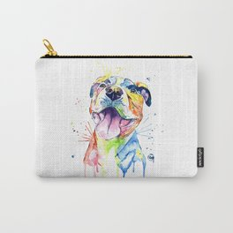 Pit Bull, Pitbull Watercolor Painting - The Softer Side Carry-All Pouch