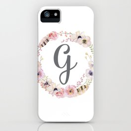 Floral Wreath - G iPhone Case