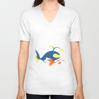 finding nemo V-neck T-shirts featuring Nemo, I choose you! by Mariotaro