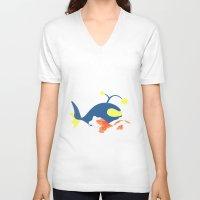 nemo V-neck T-shirts featuring Nemo, I choose you! by Mariotaro