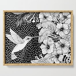 Hummingbird garden Serving Tray