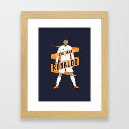 Cristiano Ronaldo - Real Madrid  Framed Art Print
