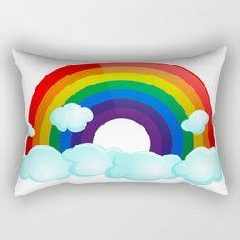 Rainbow Wishes Rectangular Pillow