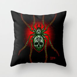 Arachnazrael Throw Pillow