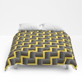 Plus Five Volts - Geometric Repeat Pattern Comforters