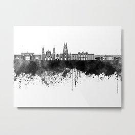 Bogota skyline in black watercolor Metal Print