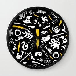 Potter Print Wall Clock