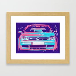 Volkswagen GTI. 40 years of greatness. Framed Art Print
