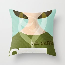 Un Caffe Throw Pillow