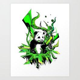 Urban Panda Art Print