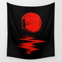 fall Wall Tapestries featuring The Land of the Rising Sun by nicebleed