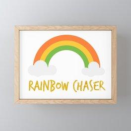 Rainbow Chaser Framed Mini Art Print