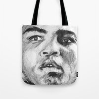 ali Tote Bags featuring Ali by DeMoose_Art