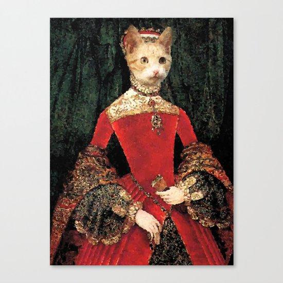 Royalty cat Canvas Print