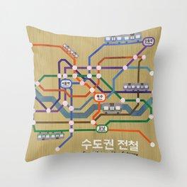 Seoul Metro Throw Pillow