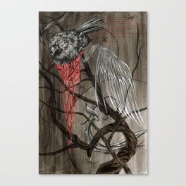 When the Snow Melted... I Found a Dead Cardinal Canvas Print