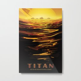 NASA Retro Space Travel Poster #12 - Titan Metal Print