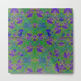 """Be yourself (Pop Fantasy Colorful Pattern)"" Metal Print"