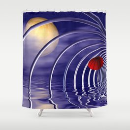 it's time to go -01- Shower Curtain
