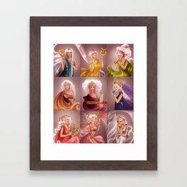 The Muses/Las Musas Framed Art Print