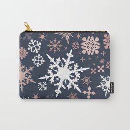 Beautiful Christmas pattern design with snowflakes Carry-All Pouch
