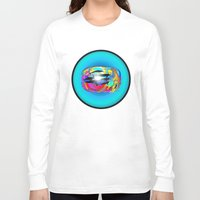 dolphins Long Sleeve T-shirts featuring Dolphins by JT Digital Art