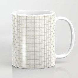 Sage green small grid minimal pattern Coffee Mug