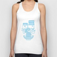 ramen Tank Tops featuring Ramen Set by Design Made in Japan