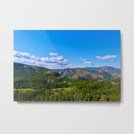 Clouds Floating Over Donner Pass Metal Print