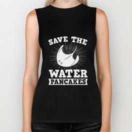 Save The Water Pancakes Tshirt Ray Sea Pancakes Meme Tee Biker Tank