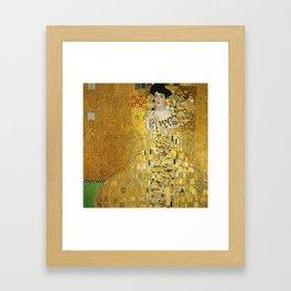 Gustav Klimt - Portrait of Adèle Bloch Bauer Framed Art Print