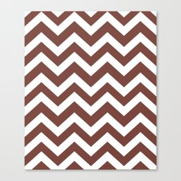 Medium Tuscan red - purple color - Zigzag Chevron Pattern Canvas Print