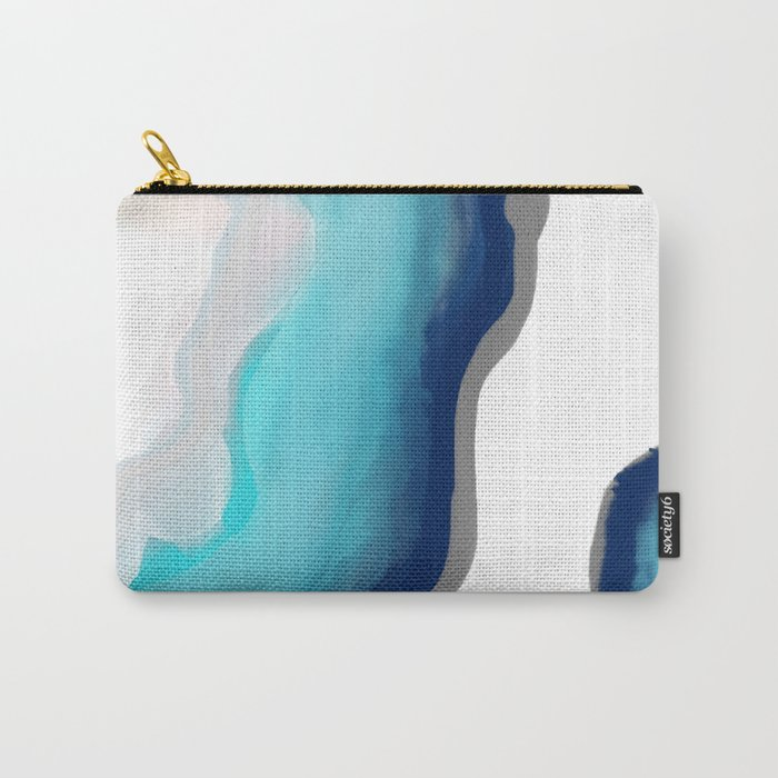 Aqua Agate Carry-All Pouch