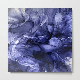 Flame Fired Alcohol Ink Painting Metal Print