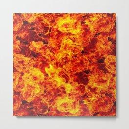 Inferno pattern Metal Print