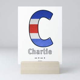 Charlie - Navy Code Mini Art Print
