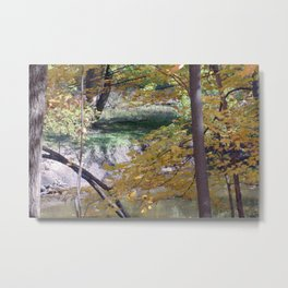 Fall By The Creekside Metal Print
