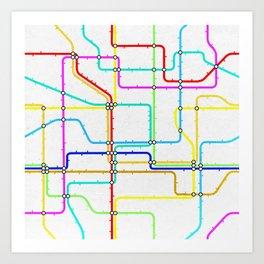 London Tube Underground Art Print