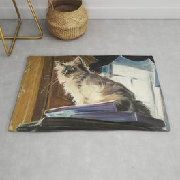 The Magnificent Ascent of the Mighty Bear (the Ragdoll Cat) Rug