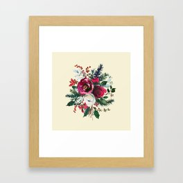 Christmas Winter Floral Bouquet No Text Framed Art Print
